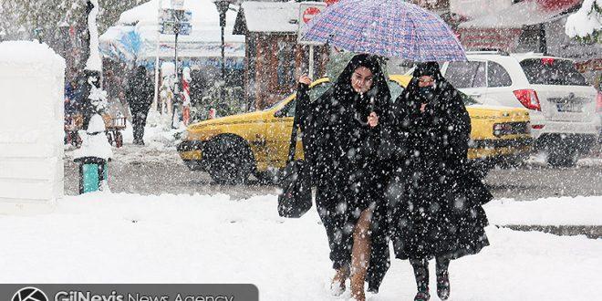 گزارش تصویری/ بارش شدید برف در رشت