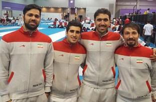 کسب مدال نقره شمشیرباز گیلانی به همراه تیم ملی شمشیربازی ایران در آسیا