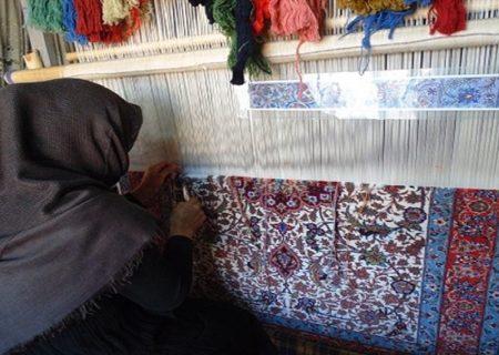 افزایش بافت فرش دستباف بزرگ پارچه در گیلان