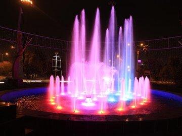 راه اندازی دوباره آب نمای موزیکال بوستان ملت در رشت
