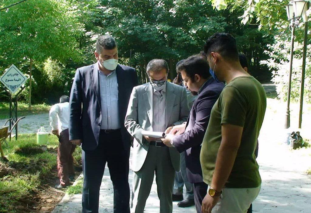 بازدید از روند اجرای پروژه باغ ژاپنی بوستان مفاخر و سامانکده شهرداری رشت