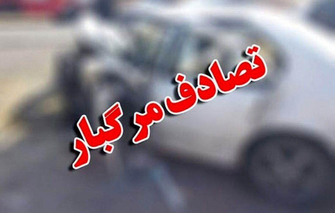 ۵ کشته در تصادف پراید و سمند در جاده پیربازار _ صومعه سرا
