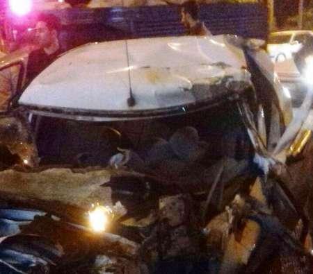 تصادف خودروی ال 90 با تانکر آب در آستارا یک کشته برجا گذاشت