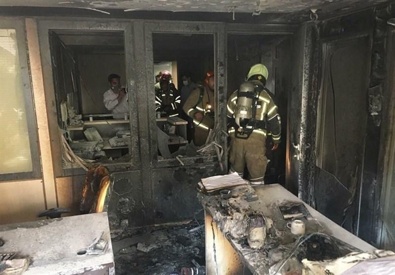 نجات یک جوان رشتی از آتش