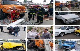 انحراف کامیون و خسارت به ۸ خودرو/ حال یکی از مصدومین وخیم است