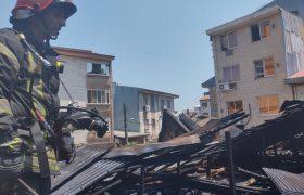 اتصال در سیستم سیم کشی برق باعث آتش سوزی شد