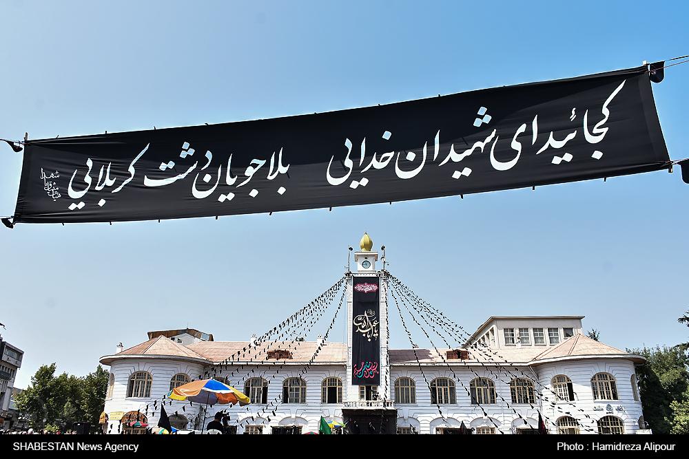 گزارش تصویری/ اجتماع عاشورائیان در میدان شهدای ذهاب رشت