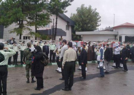 پیکر پاک ۲ شهید نیروی انتظامی در رشت تشییع شد
